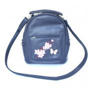 Сумка-рюкзак Domingo темно-синий с вышивкой