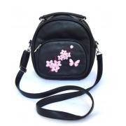 Сумка-рюкзак -трансформер Gatitio черный с вышивкой