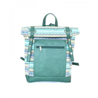Сумка-рюкзак RollTop этно зеленый