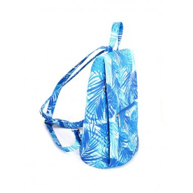 Сумка-рюкзак Serena голубы пальмы