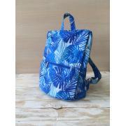 Сумка-рюкзак женский Serena голубы пальмы