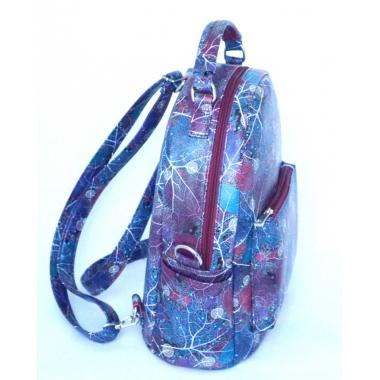 Сумка-рюкзак Domingo синие листья