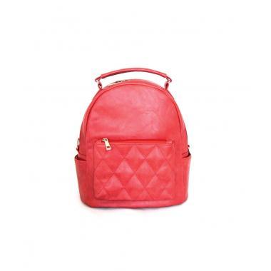 Сумка-рюкзак женский Domingo красный со строчкой