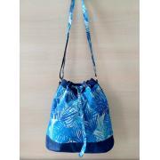 Сумка женская Fiona голубые пальмы-синий холст