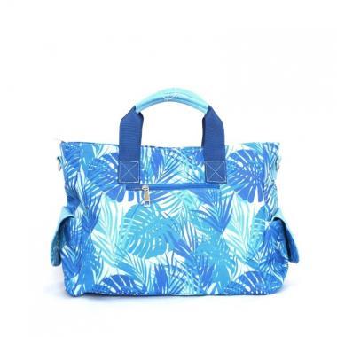 Сумка женская Elcamino голубые пальмы - голубой