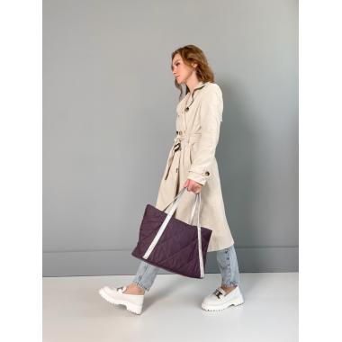 Сумка женская Calma пыльно-фиолетовый текстиль - серебро