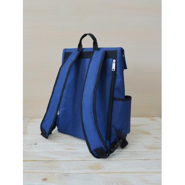 Рюкзак Perfecto синий с черным кантом