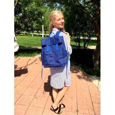 Рюкзак Perfecto синий с синим кантом