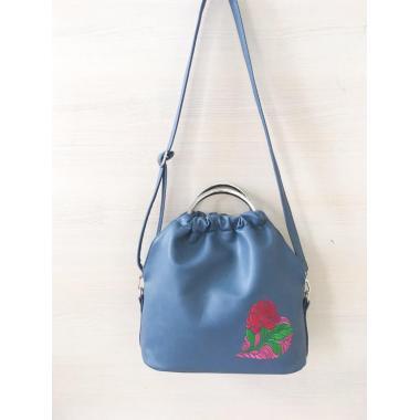 Cумка женская Rosita серо-синий с вышивкой
