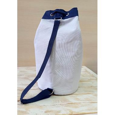 Сумка-торба Plaja белый-синий