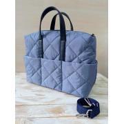 Сумка женская Evita серо-голубой текстиль - синий